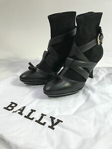 $695 NIB Bally Packy sexy strapy look ankle boots made in Italy Sz US 6 EU 36.5