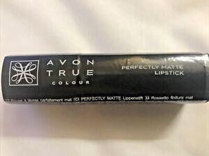 Avon True Colour Perfectly Matte Lipstick Marvelous Mocha Bargain New Sealed