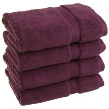 4-pc Plum Superior 900 GSM 2-Ply Long Staple Cotton Hand Thick Towels