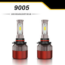 Dual Color 9005 HB3 H10 9145 LED Headlight Kit 2000W 6000K 300000LM Bulbs S8_Red