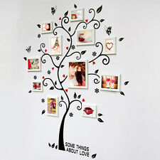 Chic Black Family Photo Frame Tree Flower Wall Sticker Home Decor Room Decals