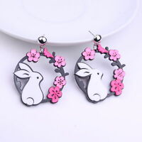 Fashion Women Drop Dangle Stud Earring Acrylic Resin Rabbit Earrings Jewelry