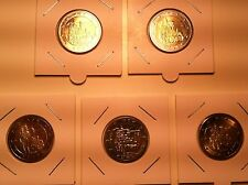 SERIE 5 ATELIERS X 2 EURO ALLEMAGNE 2012 A D F G J COMMEMORATIVES
