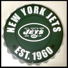 "NEW York Jets NFL LOGO BOTTLE TOP 13.5"" da appendere Wall Art Decoration"