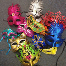 12 PCS VENETIAN MASK PARTY BIRTHDAY FAVORS MASQUERADE MIX COLORS PARTY MASK GLIT