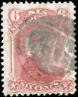 Used Canada Newfoundland 1870 F 6c Scott #35 Queen Victoria Stamp
