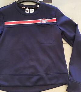 Montreal Canadiens, NWT Adult Women's Sweatshirt, Crew, Adidas S NHL Fan Gear