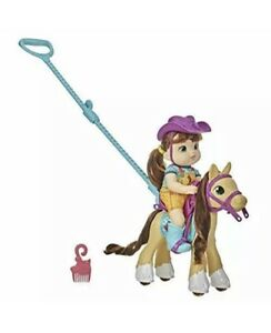 New Baby Alive E9382 Little Mandy Doll and Pony with Push Stick