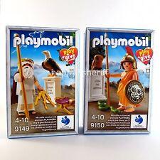 Playmobil Play+Give 9149 & 9150 Ancient Greek Gods Zeus Athena New Exclusive