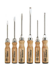 Wiha 162HK6SO Screwdriver Set Slotted/Phillips with Traditional Wooden Handles