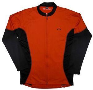 OAKLEY Men's Full Zip Cycling Jacket 431440 Red XXL 2XL