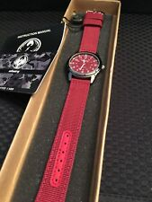 Infantry Men's Analog Red Canvas Band Watch