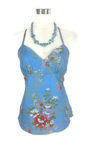 BOHO Top - Hippy Vintage Blue White Red Gold Green Japanese Asian Cotton - 6/8/S