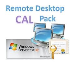 Windows Server 2008 R2 (RDS Services) 20 Remote Desktop Devices CALs