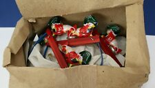 Wholesale Box Lot of 11 MM059 Early China Pecking Chicken Tin Litho Toys NOS