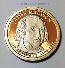 2007 S James Madison Presidential *PROOF* Dollar Coin **FREE SHIPPING**