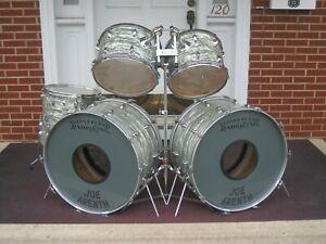 Vintage 70's Original Slingerland Outfit NO. 57N Drum Set 5 pc. Light Blue Pearl