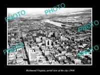 OLD LARGE HISTORIC PHOTO OF RICHMOND VIRGINIA AERIAL VIEW OF THE CITY c1940 3