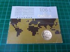 Omega Watch Manual / International Guarantee, 1975, Mov.No 36194241