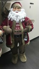 Babbo natale rosso con sacco misura 80 musicale arredo natale natalizio musica