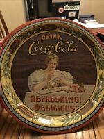 VINTAGE 1976 COCA COLA 75TH ANNIVERSARY TIN TRAY HARRISBURG PA - Serial Numbered