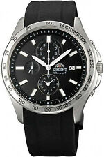 ORIENT FTT0X004B0,Men Chronograph,New,Silicone,50m WR,WITH TAG AND GIFT BOX