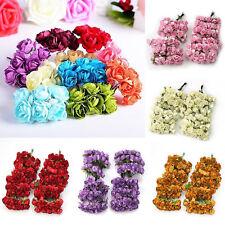 144Stk. Mini Künstliche Rosen Papier Röschen Rosenblüten Seidenpapier Hochzeit