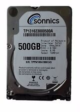 Sonnics 500GB 2.5 SATA III 6.0Gb/s 7200RPM 8MB Cache Brand new 1 year warranty