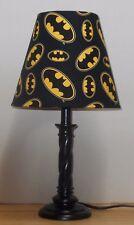 Batman Lamp & shade SUPER HEROES MARVEL COMIC Handmade Bat Logo 4 1/2 x 7x8 SALE