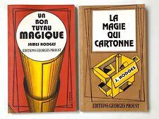 2 livres James Hodges Magie qui cartonne + un bon tuyau magique éd. G. Proust