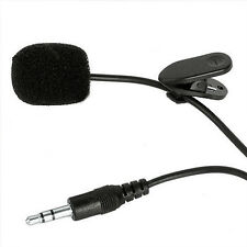 Microphone Hands Free Clip On Tiny Lapel Voice Tube For PC Notebook Laptop