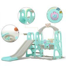 Fun Swing Set Kids Playground Slide Outdoor Backyard Space Saver 3 In 1 Play