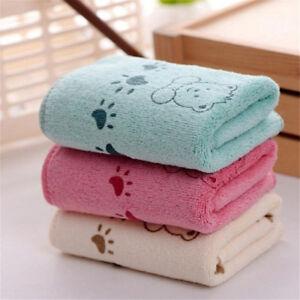 5Pcs Cute Bear Baby Infant Bath Towel 25*50cm Kids Washcloth Towel S`AU