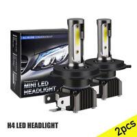 Mini H4 9003 HB2 LED Headlight Bulb 30000LM Hi/Lo Light Beam KIT 6000K White UK