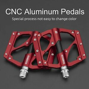 "ROCKBROS Bike Pedals MTB Bike Aluminum 9/16"" Sealed Bearing Platform Pedals US"