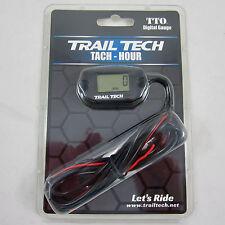Trail Tech TTO Tach Hour Front Button Digital Gauge Black All Gas Engine 742-A00
