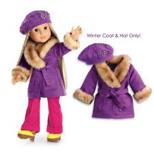 "American Girl JULIE WINTER COAT BEFOREVER for 18"" Doll Hat Beret Jacket NEW"