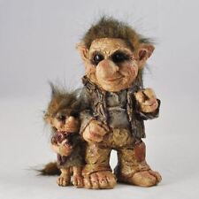 Troll Father & Son Ornament Sculpture Home Decoration Figurine Figures Gift