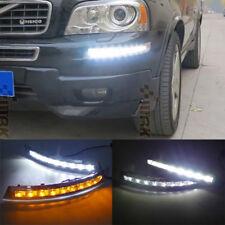 2x LED DRL Daytime Running Lights Turn Signal Fog Lamp For Volvo XC90 2007-2013