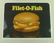 McDonald's Filet-O-Fish Plastic Sign Point Of Purchase Advertisement Vtg. 1975