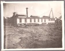 VINTAGE IDAHO UTAH 1890'S HUGE FLOATING BUCYRUS DREDGE STEAM SHOVEL MINING PHOTO