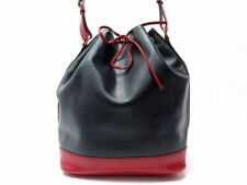 SAC A MAIN LOUIS VUITTON NOE GM EN CUIR EPI NOIR ET ROUGE LEATHER HAND BAG 1640€
