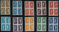 China Stamps 1952 S4 Blocks  Gymnastics by Radio Reprint 2nd Prt Full set
