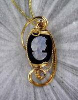 Carved Opal Cameo in 14kt Rolled Gold Setting 18x25mm