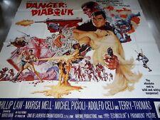 Danger Diabolik Original 6sh Movie Poster MARIO BAVA John Phillip 1968