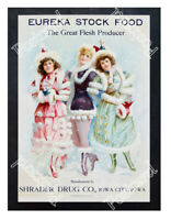 Historic Eureka Stock Food Advertising Postcard