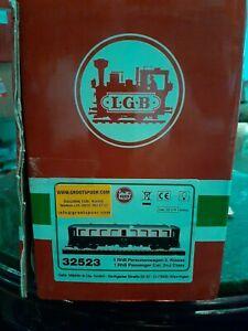 Lgb 32523 PASSENGER RH B B227 RAUCHER NICHTRAUCHER 2; with box. GREEN AND CREAM