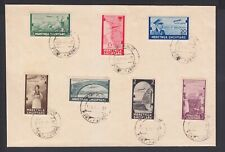 1941 Albania.Albanian  Stamps.Italy Occupation. Set in Envelope. Air Mail