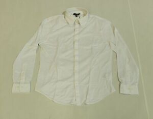 Brooks Brothers Men's End On End Button Up Sport Shirt JQ2 White Medium NWT