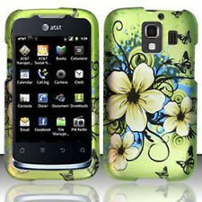 For Huawei AT&T Fusion 2 Rubberized HARD Case Snap Phone Cover Hawaiian Flowers